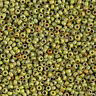 15 Grams Japanese seed Miyuki Opaque Chartreuse Picasso Glass Seed Beads