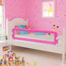 vidaXL 2x Toddler Safety Bed Rail Pink 150x42cm Baby Protective Guard Gate