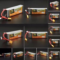 7.4V 11.1V 14.8V 22.2V ZOP Power 500-5000mAh 65C 60C Lipo Battery XT60 T