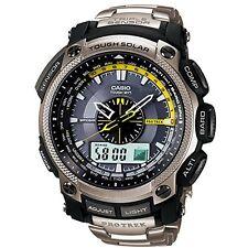 Casio Pro Trek Triple Sensor Gents Stainless Steel Bracelet Watch PRW-5000T-7