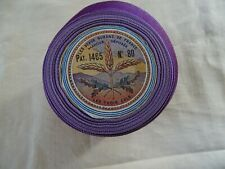 Antique French Unused Parma Satin Ribbon Moire 10m The Beautiful Ribbons France