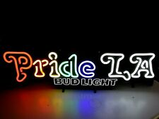 La Bud Light Gay Pride Rainbow Lgbt Beer Bar Led Light Sign Parade opti neon