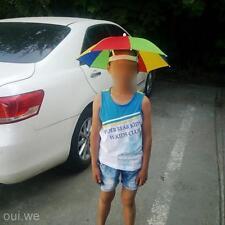 Foldable Kids Adult Adjustable Headband Hat Umbrella Hiking Fishing Outdoor Kit