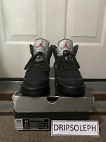 Air Jordan Retro 5 Metallic Silver Black 2011 Size 6.5Y GS 440888 010