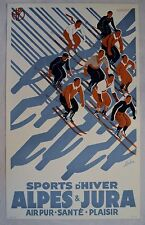 SPORTS D'HIVER HAND PULLED LITHOGRAPH BY RE SOCIETY 24X39 #554 W/COA