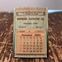 Vintage 1953 Newburg Elevator Co. Newburg Iowa Desk Calendar