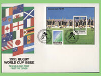 New Zealand 1992 World Cup Rugby set & m/s on two First Day Cover
