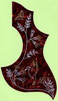 """HUMMINGBIRD"" DESIGN ACOUSTIC GUITAR PICKGUARD SCRATCHPLATE, NEW"