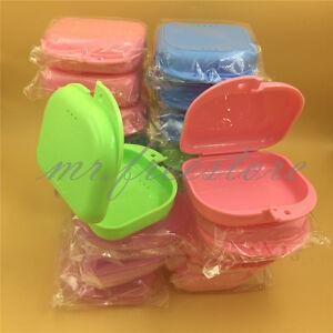 50 Pcs Dental Health Orthodontic Mouthguard Retainer Denture Storage Case Box