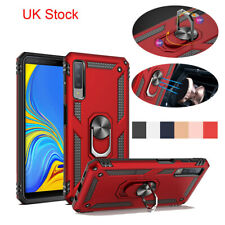 Armor Case For Samsung Galaxy A7 A9 J6+ 2018 Shockproof Metal Ring Holder Cover