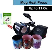 Mug Heat Press Sublimation Digital Machine for 6-11Oz DIY Coffee Mug Cup Gift US
