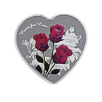 Business Souvenir Gifts 999.9 Silver Plated Heart Shape Coin for Valentines