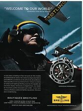 Publicité Advertising 2013 La Montre Breitling Superocean Chronograph II