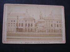 CABINET CARD CDV BRUXELLES PLACE DES MARTYRS  XIXeme SIECLE  PHOTOGRAPHE  ?