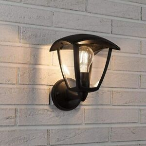 CGC Black Outdoor Wall Light Coach Lantern Down Direction Fixture E27 Bulb