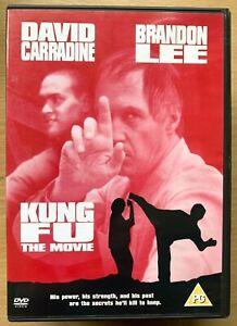 Kung Fu The Film DVD 1986 Fonctionnalité Avec David Carradine Et Brandon Lee