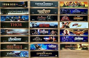 ⭐ Lot of 23 - COMPLETE MARVEL CINEMATIC UNIVERSE - Movie Theater Poster / Mylar