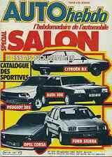 AUTO HEBDO n°337 du 30 Septembre 1982 GP LAS VEGAS SPECIAL SALON
