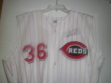 1999 GABE WHITE Cincinnati Reds Game Used Worn Home Jersey SIGNED