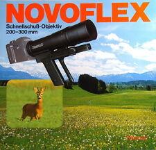 Novoflex Schnellschuß-Objektiv 200-300 mm Prospekt brochure - (0462)