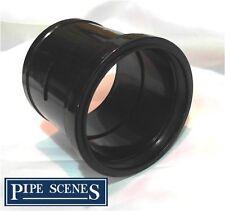 "4"" 110mm Soil Pipe Glue to Push Fit Coupling Single Socket Type Joiner Black"
