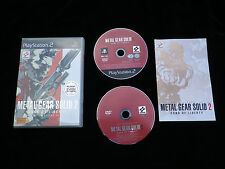 JEU Sony PLAYSTATION 2 PS2 : METAL GEAR SOLID 2 Sons Of Liberty + DVD making of