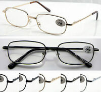 L40 Metal Frame Reading Glasses Spring Hinges +50+75+100+125+150+175+200+250+300