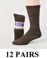 12 Pairs Mens Physicians Choice US Made VENTILATED Diabetic Brown Crew Socks