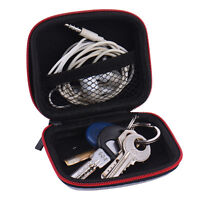 Black Carrying Hard Case Storage Bag hold for Earphone Headphone Headset Earbuds
