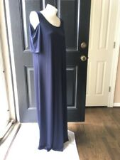 New Sold-out $129 Chico's Ink Navy Blue Cold Shoulder Maxi Dress 3 XL 16 18 NWT