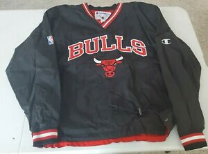 Chicago Bulls NBA Champion Pullover Jacket ( Large )