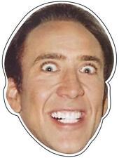 STICKER Nicolas Cage BUMPER STICKER FREE POST Crazy Face Nicholas