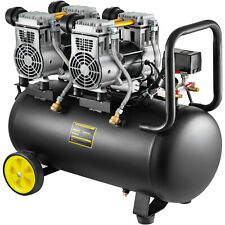 250L/min Compresseur d'air sans huile 980W Silencieux Moteur 1450 PRM