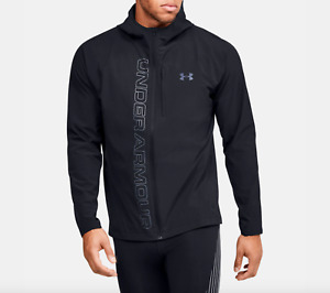 Under Armour Qualifier Outrun The Storm Men's Running Jacket Black 1350173 NWT