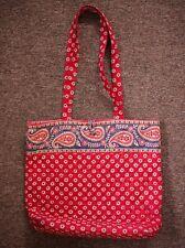 Vera Bradley American * Red floral paisley * Purse Handbag large tote bag