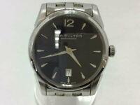 HAMILTON Jazzmaster Slim H385150 SS Black Dial Men's Automatic See-Through Watch