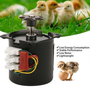 220V AC Egg Turner Motor Incubator Engine Reversible Automatic Hatching Machine