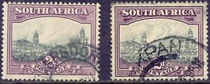 SOUTH AFRICA 1930 2 d. Government building South Africa, MAJOR ERROR & VARIETY