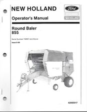 New Holland 855 Round Baler Operator Manual, above serial number 706837