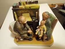 """1980 Vintage Norman Rockwell's """"1947 First Annual Visit"""" Figurine Gorham Doctor"""