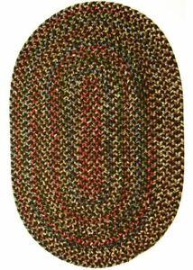 Katie Soft Textured Tweed Polypropylene Country Braided Rug Brown Multi KA33
