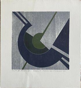 Giuseppe Calonaci litografia Composizione Natale '76 23x23 firmata numerata