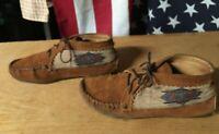 MINNETONKA 572 EL PASO aztec southwest Brown SUEDE LEATHER Ankle BOOTS Women 6.5