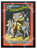 Historic Kingsland's Chlorinated Tablets 1880s Advertising Postcard
