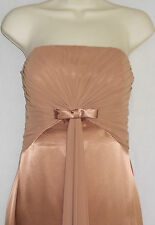 NEW Evening Dress Long Ball Gown 10 Bari Jay Womens M Brown Empire Waist 4g24