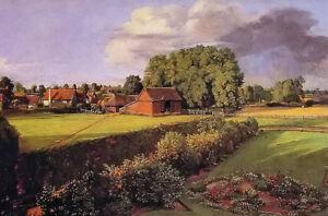 Oil painting john constable golding constables flower garden nice landscape art