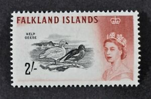 FALKLANDS, QEII, 1960, 2s. black & brown-red value, SG 204, LMM, Cat £32.