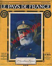 Le pays de France n°166 du 20/12/1917 Amiral Merveilleux du Vignaux