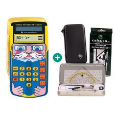 TI Little Professor Taschenrechner + Schutztasche und GeometrieSet