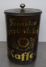 Antike grosse Kaffeedose Tante Emma Laden Kaffeesilo Kaffee Behälter Blech Dose